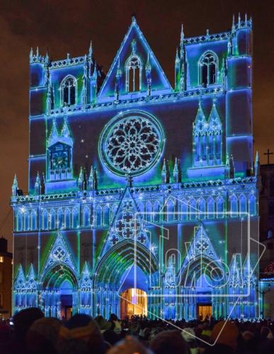 tekoaphotos,cathédrale,saint-jean,lyon,illuminations,8 décembre,fête des lumières,façade,mapping