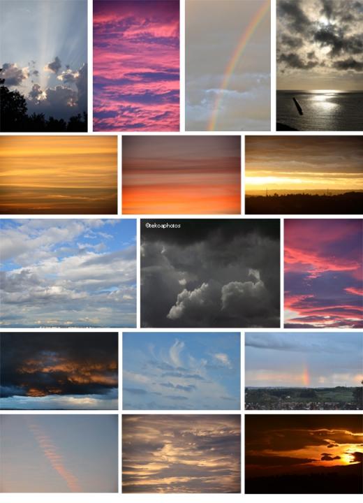 tekoaphotos,ciels,ciel,arc-en-ciel,nuages,crpuscule,aube,couchant,couleurs